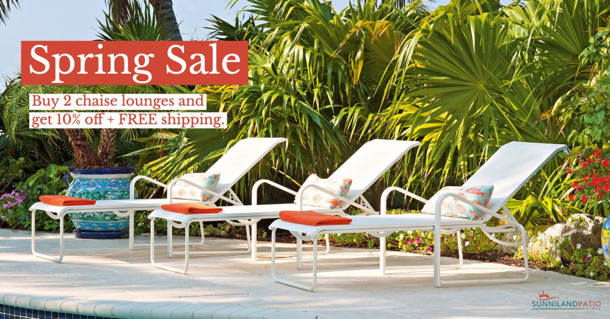 Valid March 25-April8. Shop here //bit.ly/2U7XADK Ps Take advantage now we donu0027t discount chaise lounges any other time of year. & Sunniland Patio (@sunnilandpatio) | Twitter