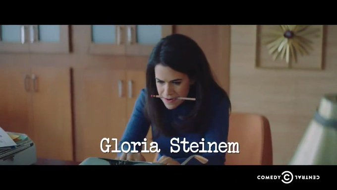 Happy birthday, Gloria Steinem! Thanks for all the amazing work you\ve done, and the incredible work to come.