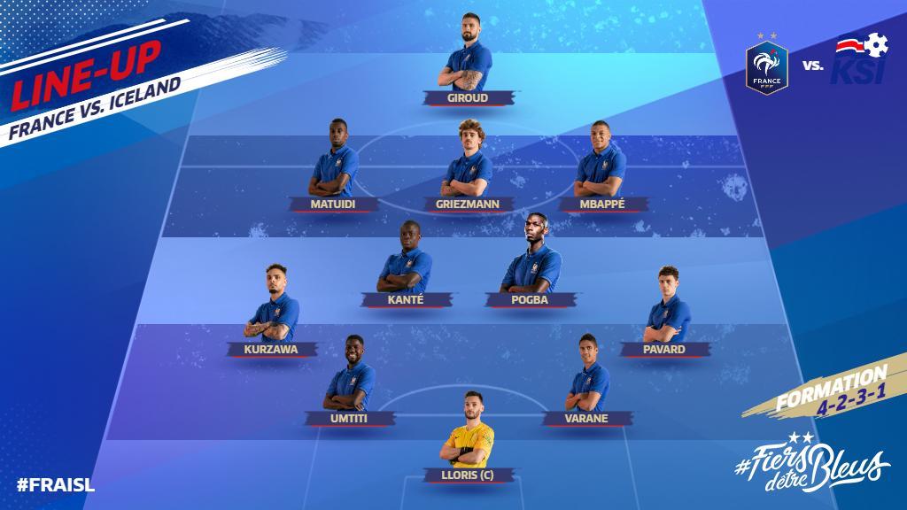 Our starting XI! 👊🇫🇷  #FiersdetreBleus #EURO2020 #FRAISL