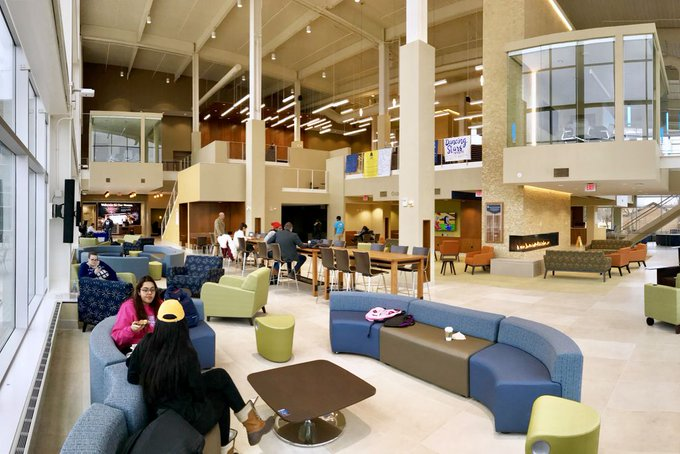 The #UISedu Student Union was honored with the Facility Design Award of Excellence today from the Association of College Unions International! The @UISUnion was designed by @WorkshopMKE and @TheDewberryWay. Learn More: https://t.co/oPoNUSapa9 https://t.co/vR25K4t4Fa