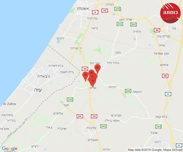 Rocket alert southern #Israel. #Gaza