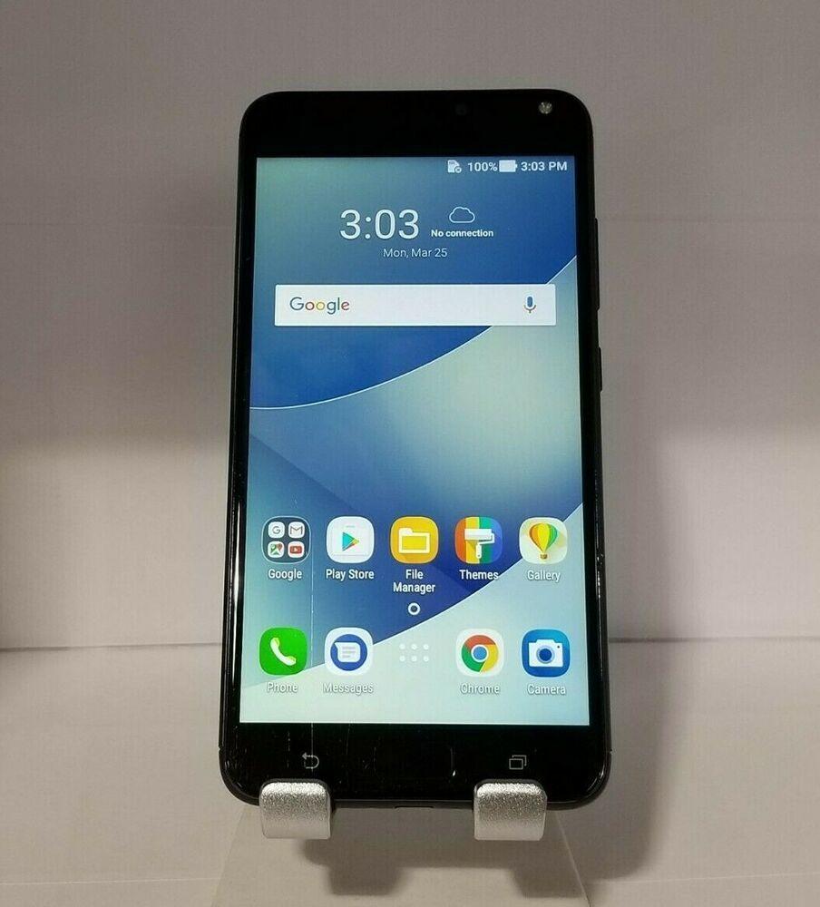 ASUS Zenfone 4 Max X00ID - 32GB - Black (Unlocked) Dual SIM Smartphone...