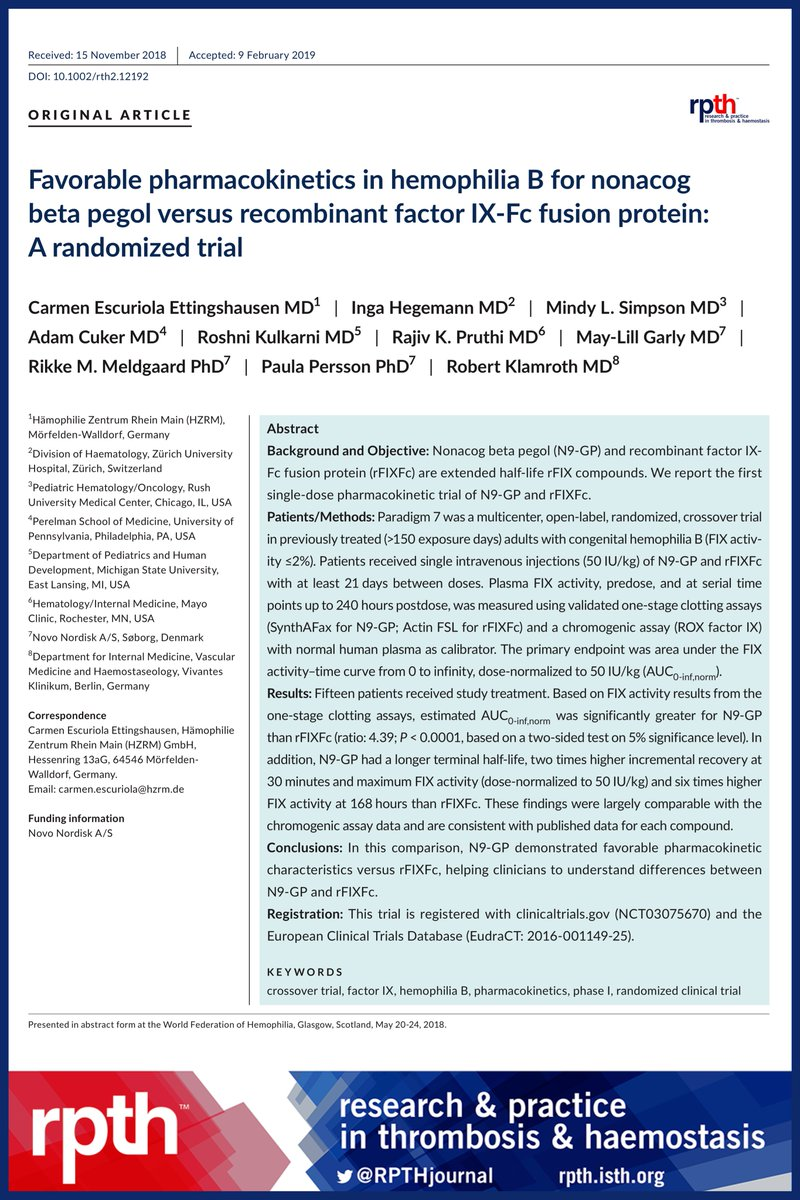 Research and Practice in Thrombosis and Haemostasis