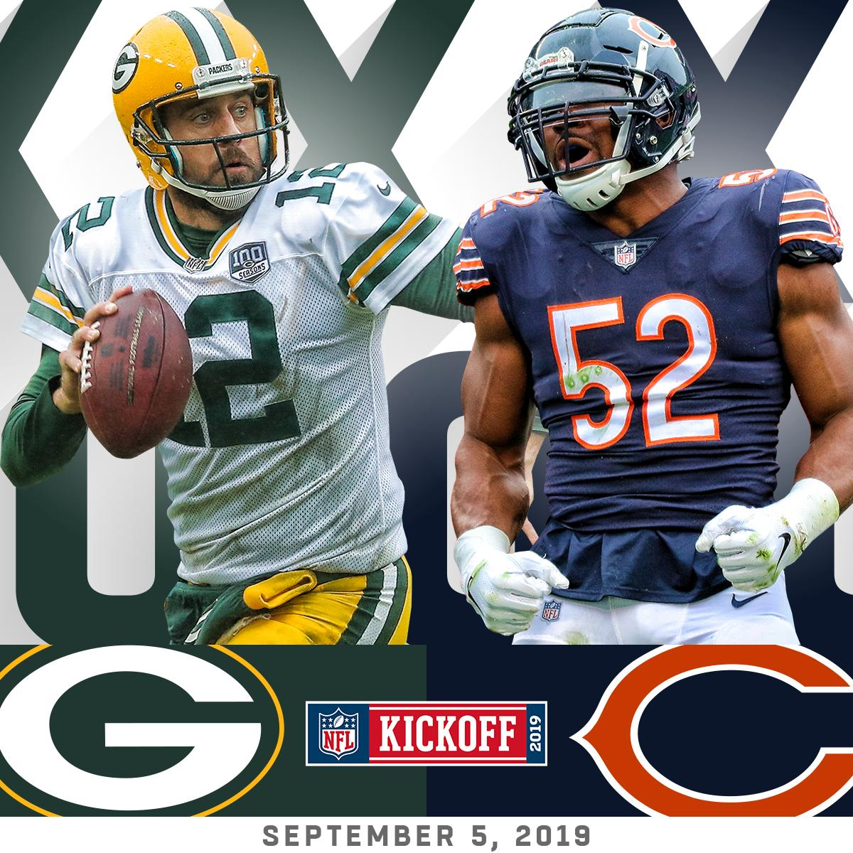 The NFL's 100th season will kick off with @packers at @ChicagoBears on Thursday September 5th, 2019! #NFL100 https://t.co/aGvs22AvNe
