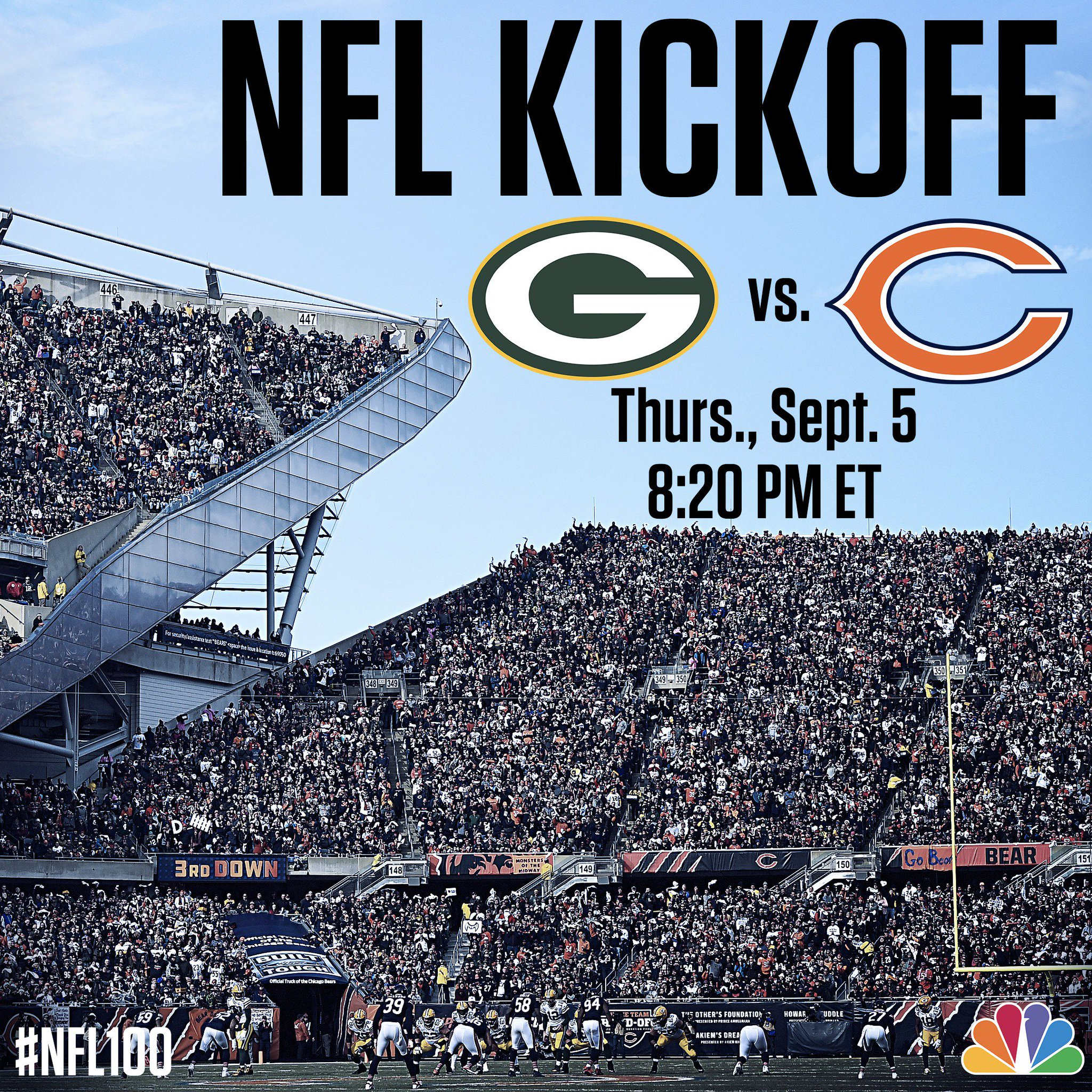 Two of the NFL's oldest and proudest franchises will open the league's 100th season on NBC. https://t.co/dXWRmWmGUw https://t.co/Z7r6AFl8Cj