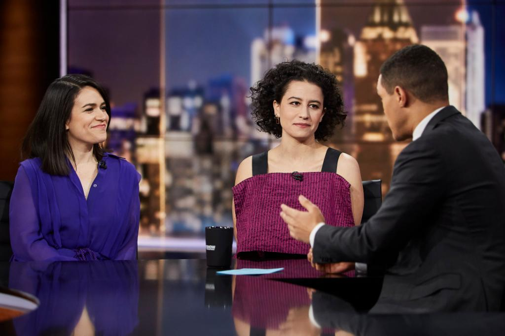 TONIGHT: @broadcity creators and stars @abbijacobson and @ilazer are here!