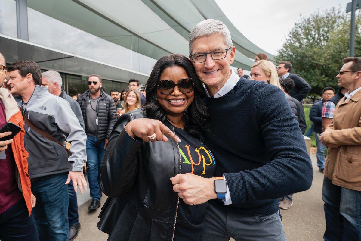 Tim Cook's photo on Apple TV
