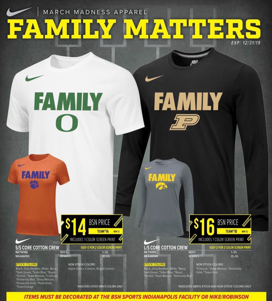 9d9e1e4ff Contact your @BSNSPORTS_Knox @BSNSports_TN rep to order the official @Nike  tees of #MarchMadness2019!!!pic.twitter.com/Q4JOKLPomq