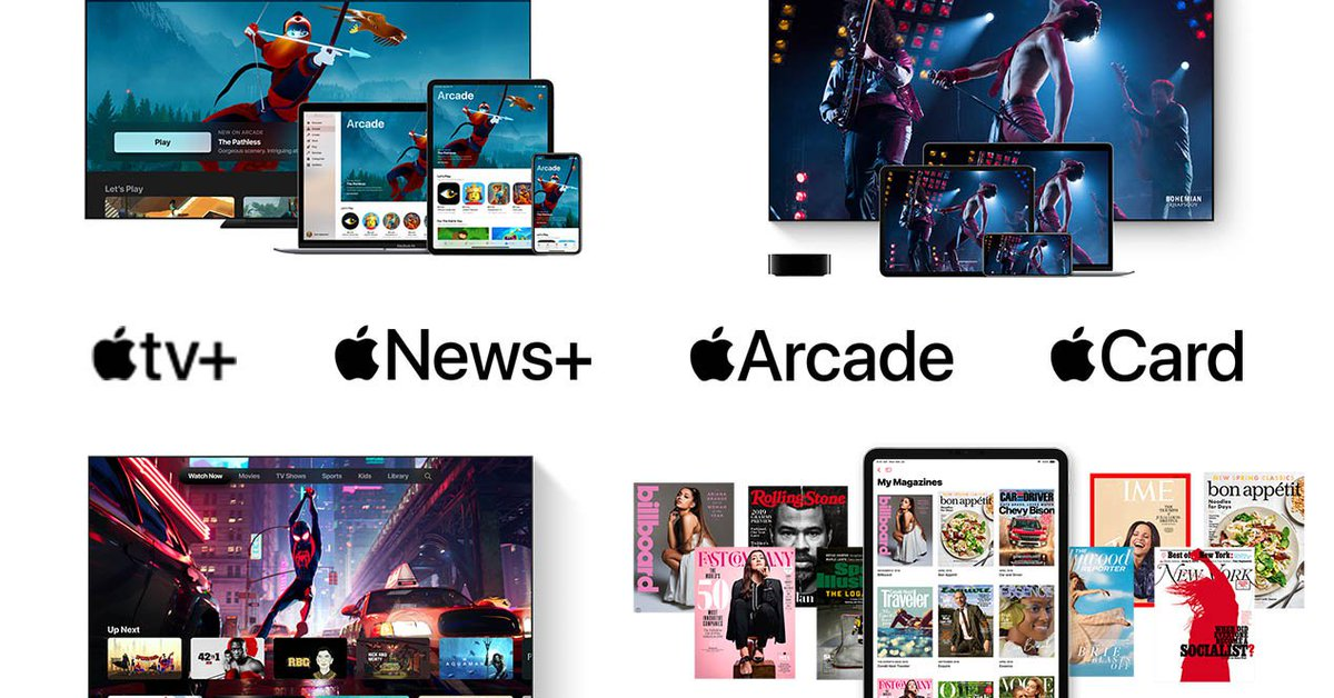 Las suscripciones comienzan a dar miedo. Apple TV+, Apple Arcade y Apple News+, estos son todos los servicios de pago de Apple que llegarán próximamente y que podrás pagar con la nueva Apple Card - https://eloutput.com/noticias/tecnologia/apple-tv-plus-arcade-news-plus-precios-caracteristicas/…