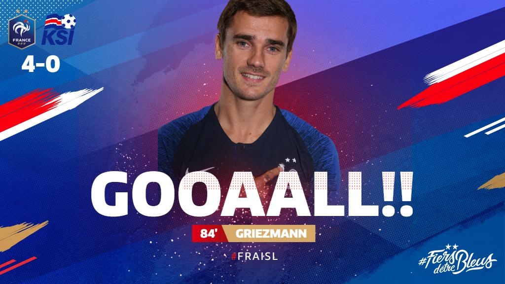 This time @KMbappe turns provider for @AntoGriezmann, who expertly lifts the ball over Halldórsson to score! ⚽️⚽️⚽️⚽️  #FiersdetreBleus #EURO2020 #FRAISL
