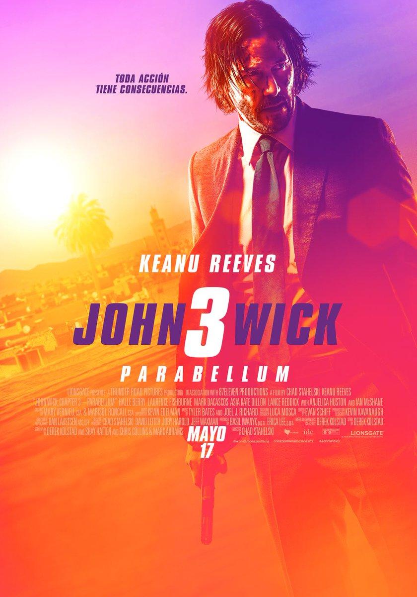 Ya está aquí el NUEVO póster de #JohnWick3  ¿Estás listo para esta película?