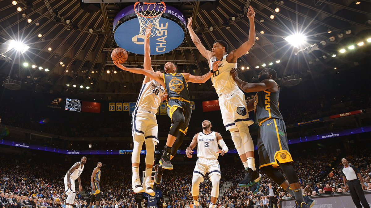 Last time against the Grizz  - Steph became the fifth player in Dubs history to score 15,000 during the regular season - KD passed Larry Bird for 33rd place on the NBA's all-time scoring list - & the Dubs grabbed the win