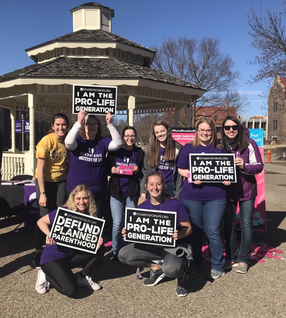 Today our club held a display focused on the misconceptions and unknown statistics of Planned Parenthood. It was wonderful talking with students from all different walks of life and providing them with information. We are the #prolifegeneration!