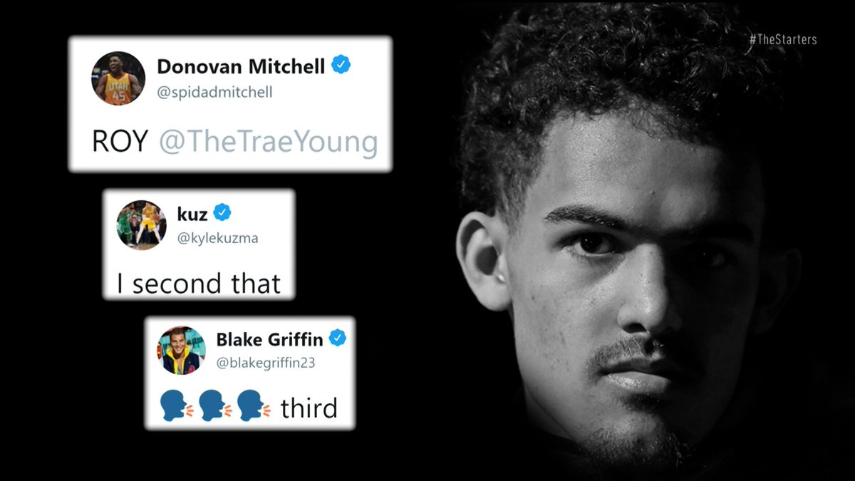 It was a foregone conclusion that @luka7doncic had the ROY award in the bag earlier in the season—but has @TheTraeYoung changed that? #TheStarters discuss.