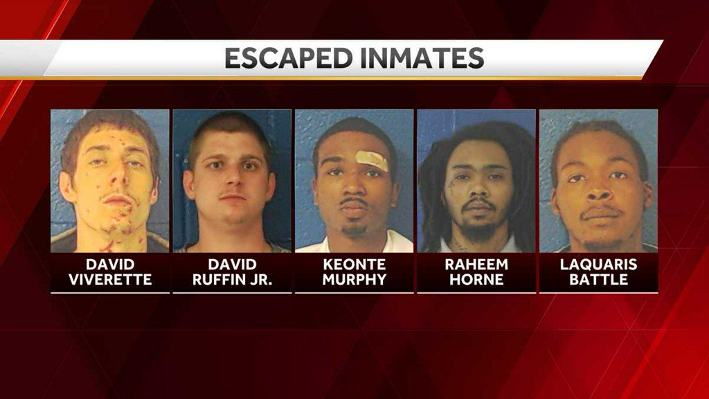 Five inmates escape from Nash County jail https://t.co/zDaKGrAZDv https://t.co/u1gH8HauaA