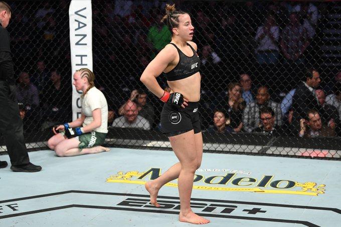 Flyweight debut ✅  Who should 🔮 @MayceeBarber take on
