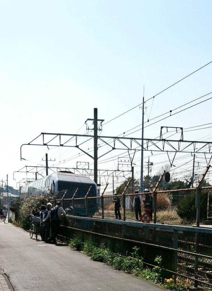 東海道本線の大磯駅で人身事故が起きた現場画像