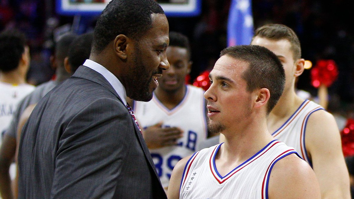 """Philadelphia 76ers' GM Elton Brand is """"somebody who's always been smart and intelligent and conducted himself in a professional manner, @QRich tells me of his former Clippers teammate: http://goo.gl/iePqHr  """"I think he set himself up throughout his career."""""""