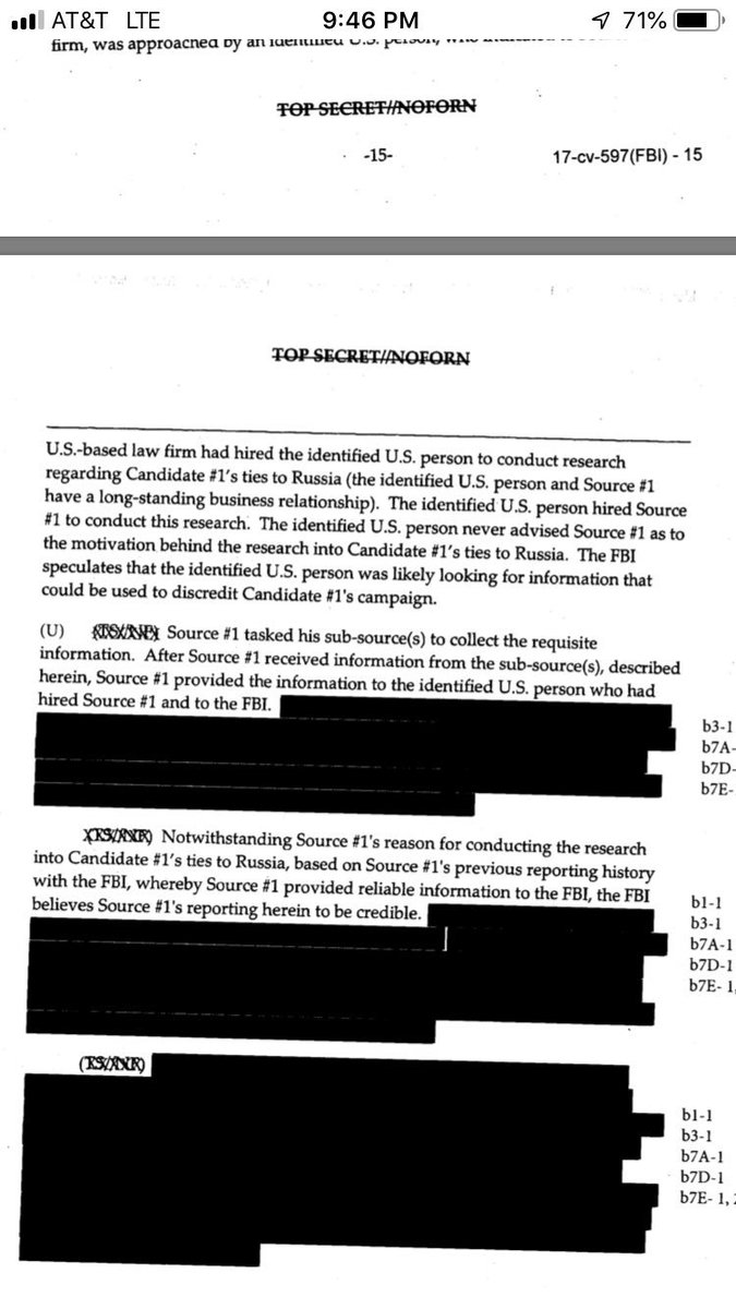The application shows that the F.B.I. told the court it believed that the person who hired Mr. Steele was looking for dirt to discredit Mr. Trump.