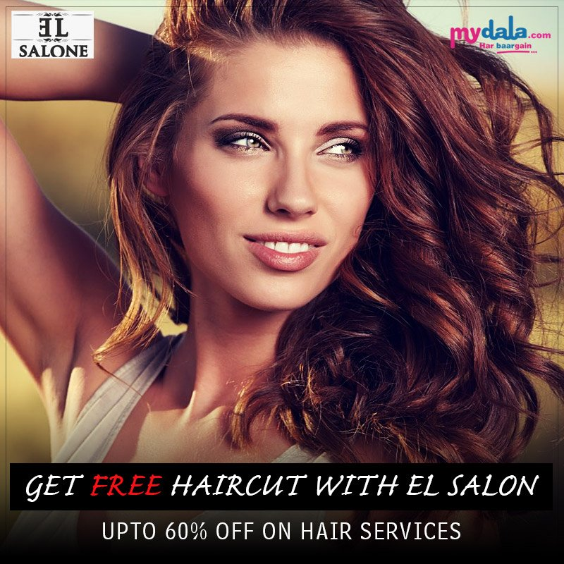 Enjoy with the services of EL Salon Get FREE Haircut Upto 60% Off On Hair Services. Hurry Up Now!!! Book Now: https://t.co/M5kJdB6zzk #free #haircut #offer #specialoffer #discount https://t.co/aoW4whax1e
