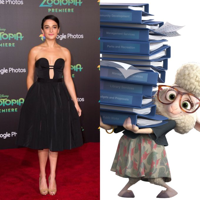 Happy Birthday Jenny Slate!  The voice of Dawn Bellwether.