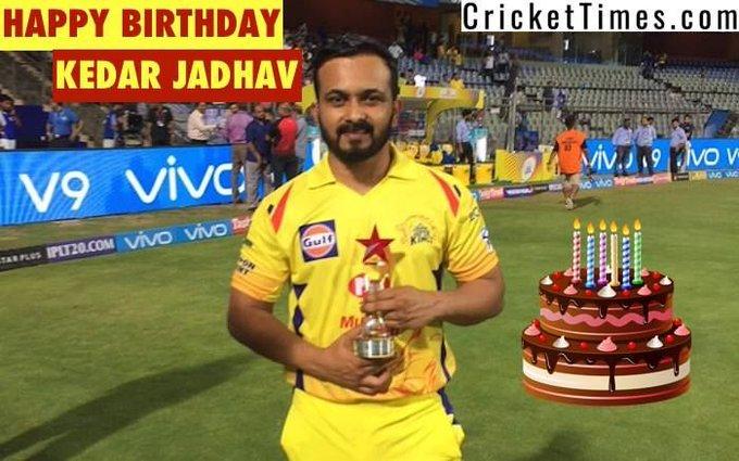 Happy Birthday, Kedar Jadhav :)