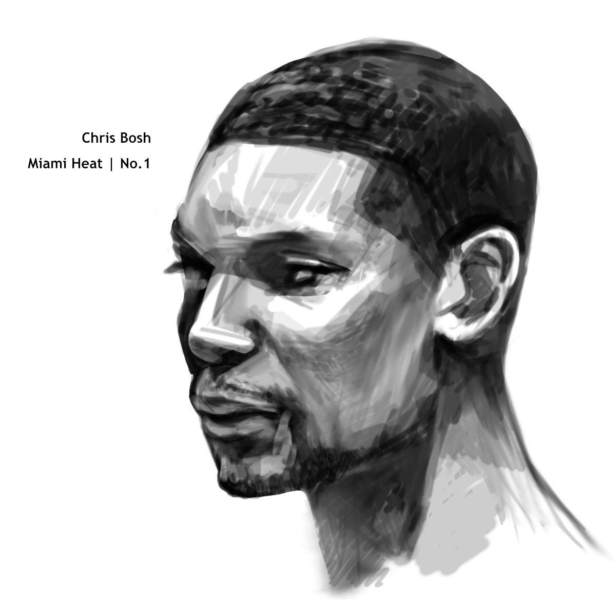 Chris Bosh Miami Heat   No.1 🔥 #ThankYouChr1s #Heatculture  #ChrisBosh #MQdrawing