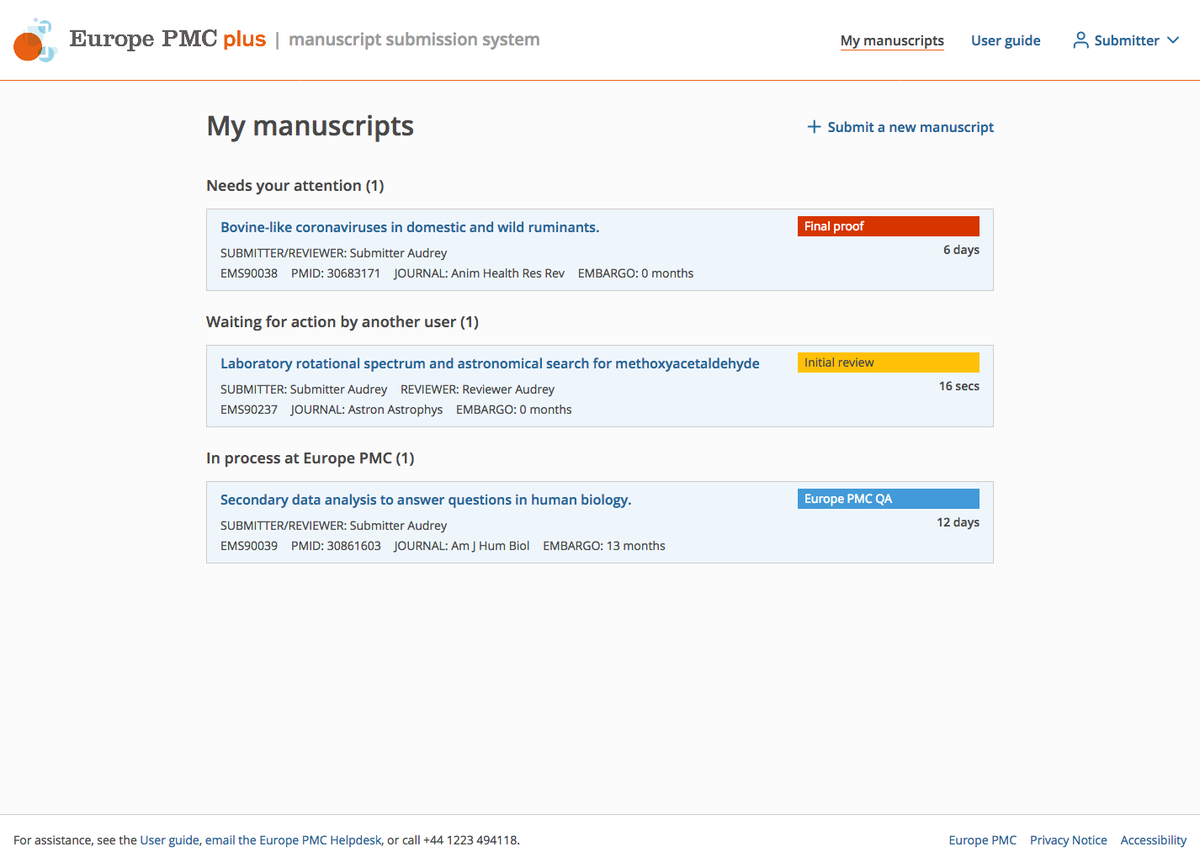 Get ready for May 1st: upgraded version of Europe PMC plus manuscript submission system is on its way. It is a fully #opensource system built in collaboration with @CokoFoundation @eLife @Hindawi and others. Discover more: https://t.co/s1BZMJSSwb https://t.co/6uxAOwdKQH