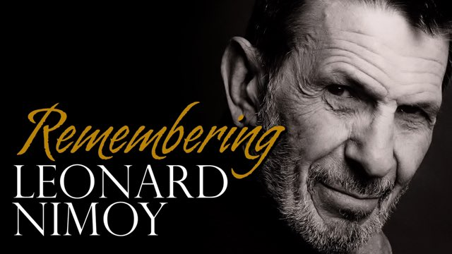 Happy Birthday Leonard Nimoy March 26, 1931.
