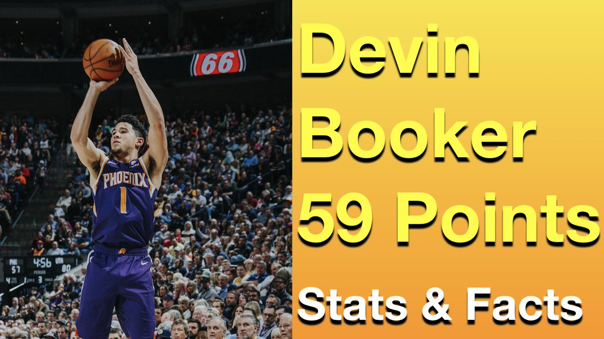 Devin Booker scores 59 points in a losing effort to the Utah Jazz, however the history behind the 59 is worth discussing. Tune in now! #NBA #NBAHistory #Suns #SunsTwitter #NBATwitterLIVE #NBATwitter #SunsReddit #DevinBooker #Booker #valleyboyz https://youtu.be/6TAdvzoYU7U