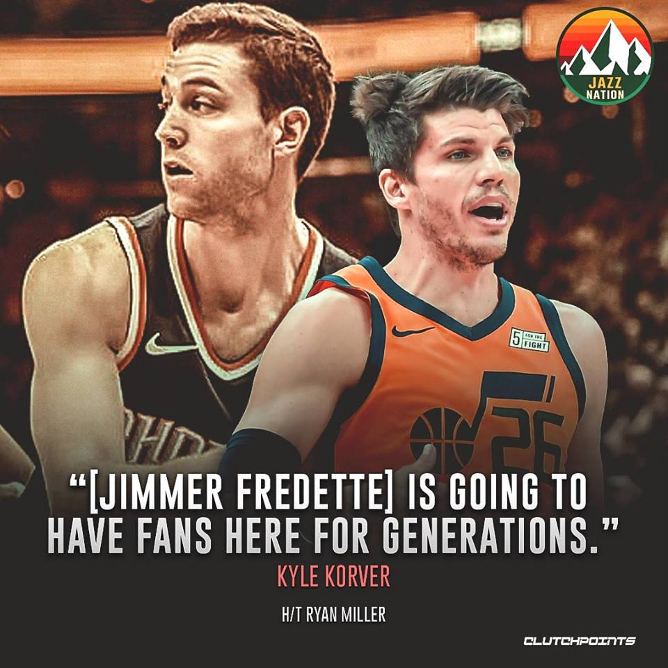 Kyle Korver knows Jimmermania will run wild in Utah for a very long time no matter where Jimmer Fredette plays. #Jazz #Suns #NBA #NBATwitter