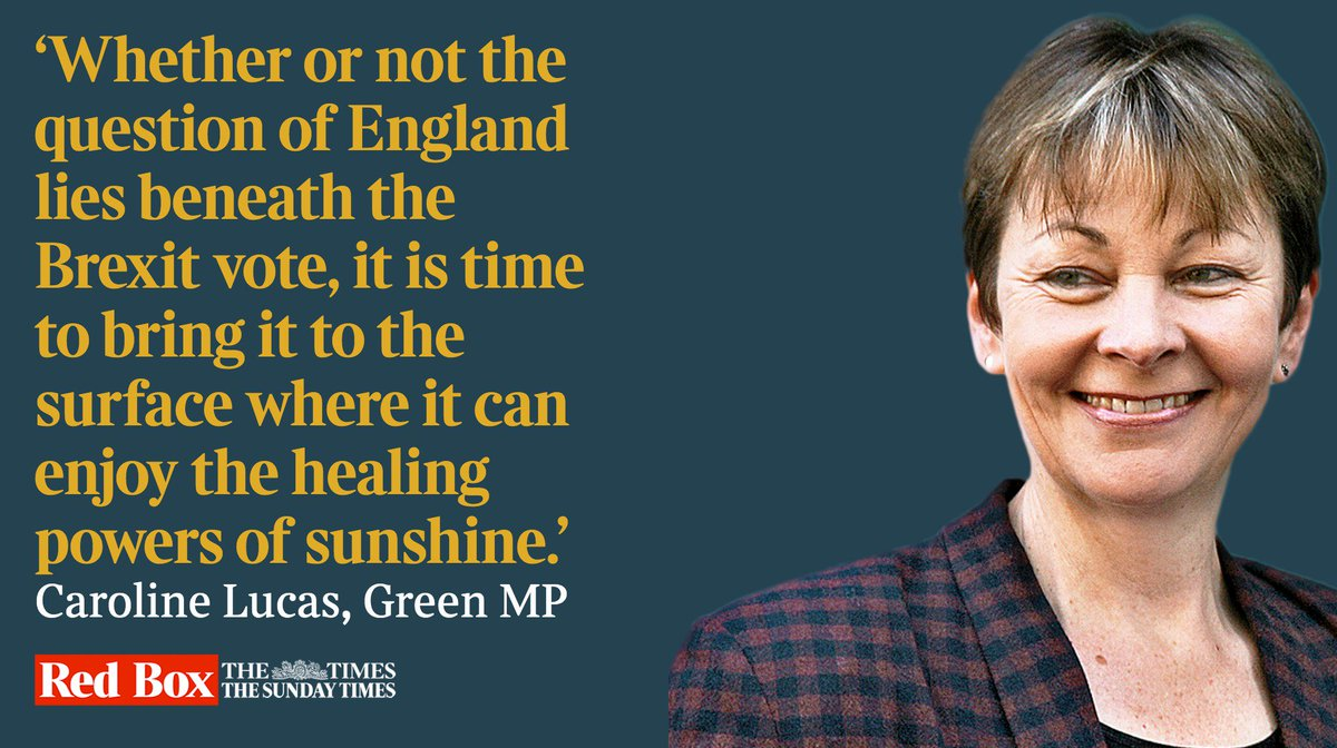 Remainers are wrong to dismiss Brexit as English nationalism, writes @CarolineLucas bit.ly/2HI6bHp