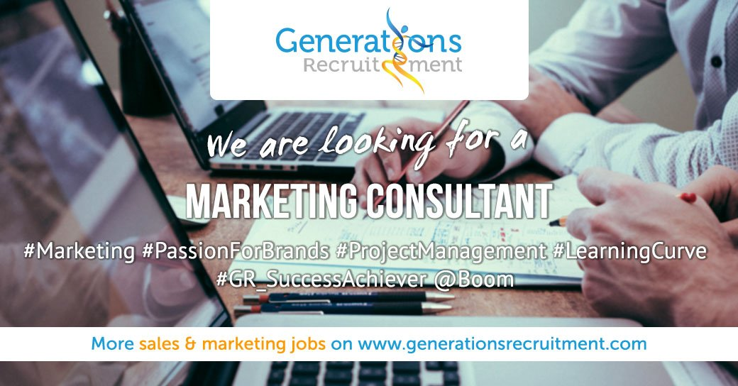 We are looking for a Marketing Consultant ! Apply now! https://bit.ly/2utuobS #marketing #passionforbrands #projectmanagement #learningcurve #gr_successachiever #boompic.twitter.com/o1yOMLmQqC