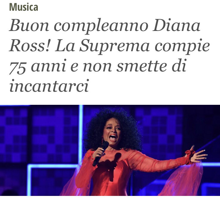 Diana Ross ha fatto sognare intere generazioni. HAPPY BIRTHDAY