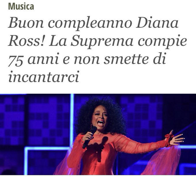 Diana Ross ha fatto sognare intere generazioni. HAPPY BIRTHDAY