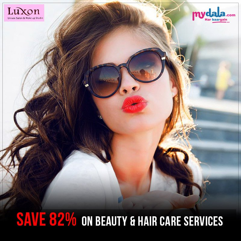 Huge Discount With Luxon Unisex Salon. Save 82% On Beauty & Hair care services  #haircare #makeup #luxon #offer #deals #discount Book Now: https://t.co/T2wWqGQQTg https://t.co/9mwUkdaAEX