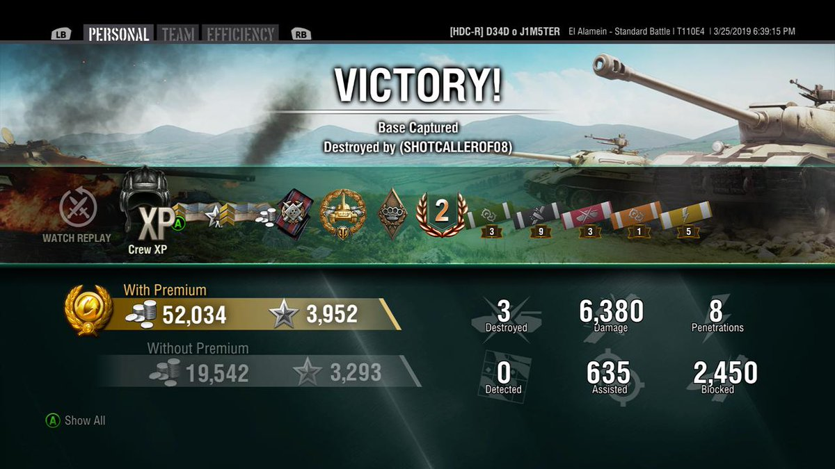 Good way to finish my contract #WorldofTanksMercenaries #XboxShare
