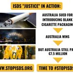 Image for the Tweet beginning: Yet another #ISDS scandal! Australia