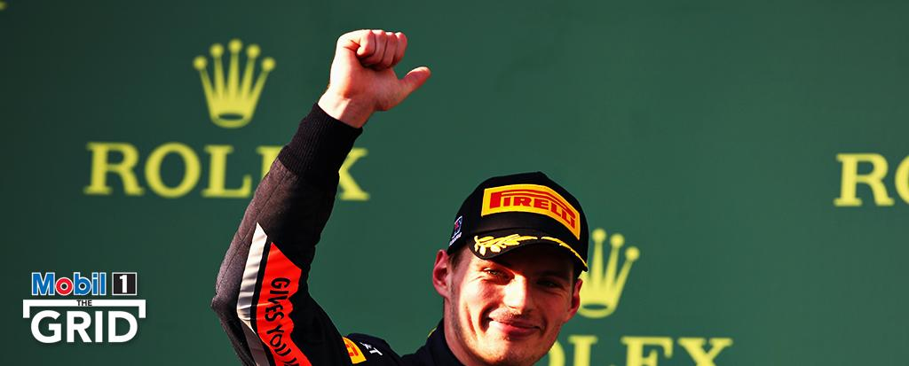 Commence – Scoring his 23rd career podium at the first race of the season in #Melbourne, @Max33Verstappen has now joined Sebastian Vettel in becoming one of only two @RedBullRacing drivers to start a Grand Prix season with a podium finish. @F1 #AusGP #AustralianGP @VerstappenNL<br>http://pic.twitter.com/GzQB90qb2R
