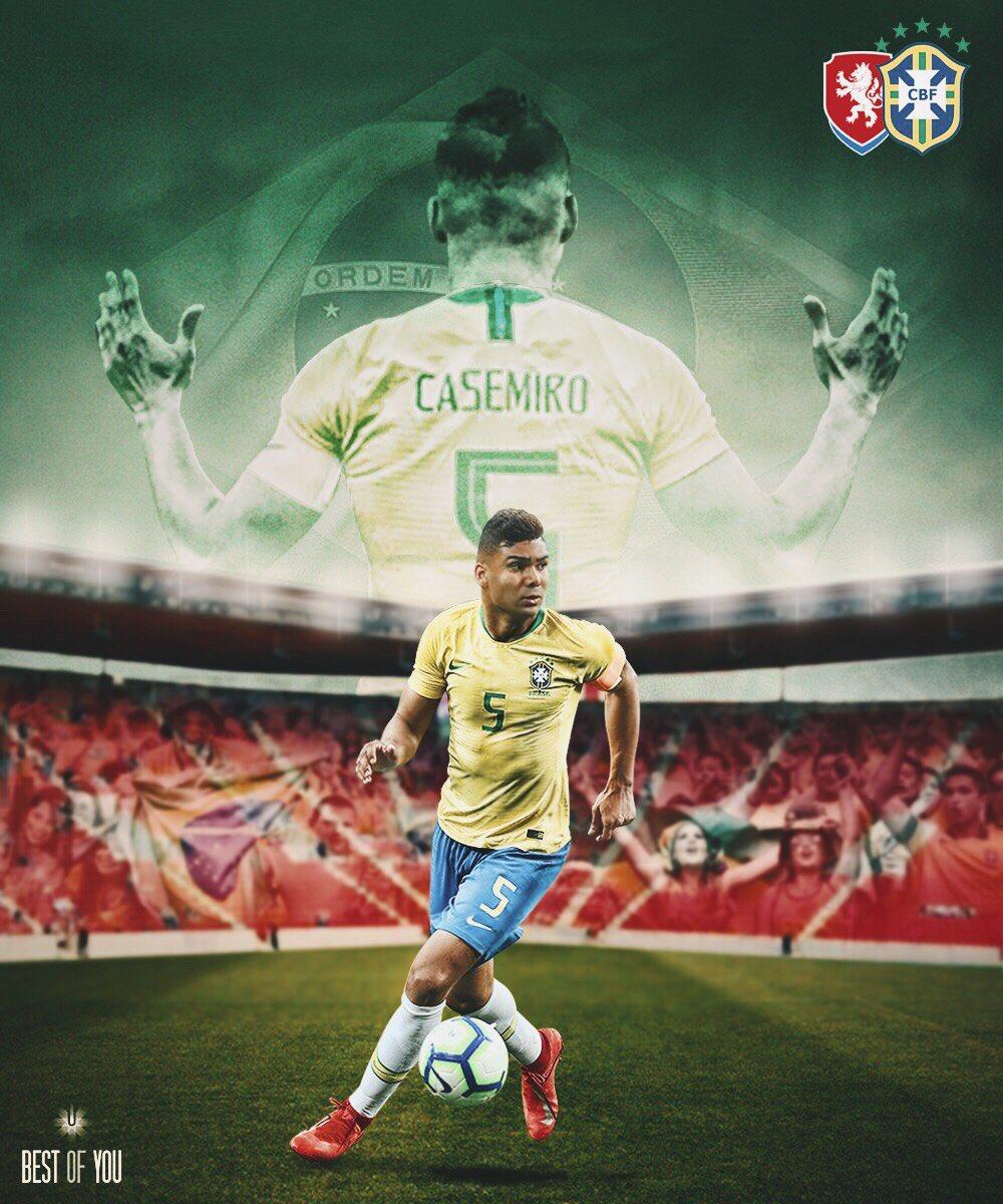 Sempre grato por mais uma oportunidade de defender essa camisa com orgulho. ¡Vamos 🇧🇷! 💪🏽  #SeleçãoBrasileira #VamosBrasil #CA5EMIRO  @ceskarepre_cz 🇨🇿🆚🇧🇷 @CBF_Futebol  🇧🇷 16:45 h 🇪🇸 20:45 h