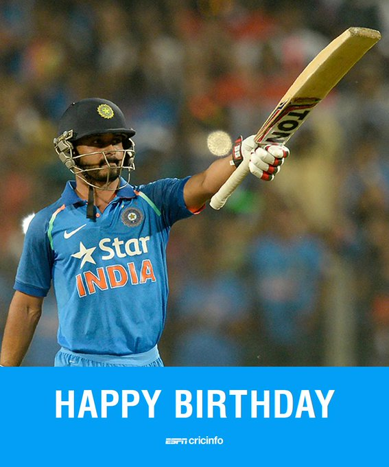 Happy Birthday to Kedar Jadhav!   The Indian batsman turns 34 today