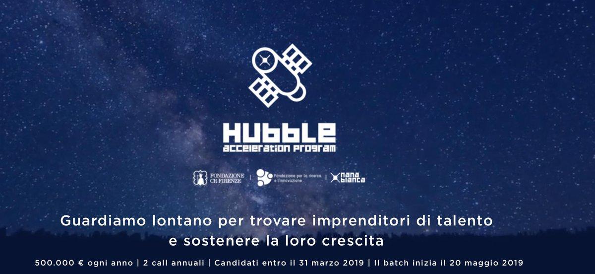 Hubble: la call da 1 milione per le #startup innovative di @NanaBiancaItaly, @FondazioneCRF e @FondazioneUnifi. Le candidature saranno aperte fino al 31 marzo#StartupItalia #OpenInnovation #bandihttps://openinnovation.startupitalia.eu/62541-20190207-hubble-nana-bianca-startup  - Ukustom