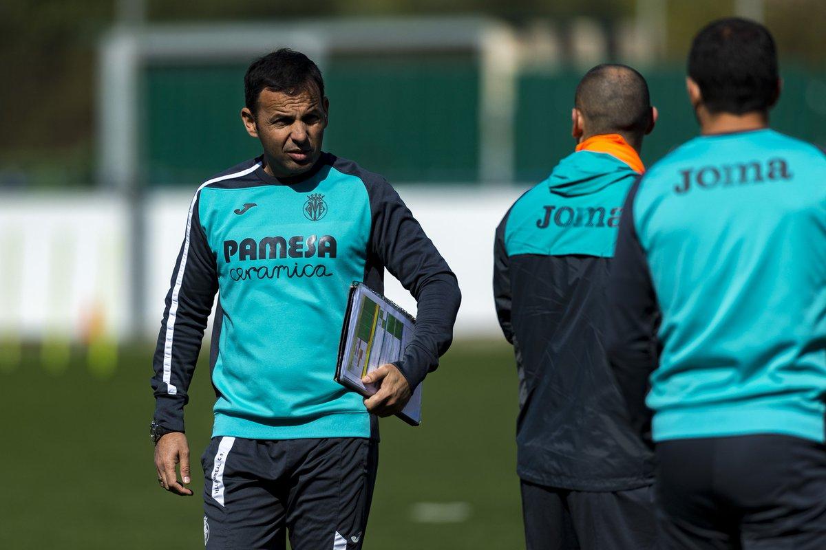 Calleja, en la sesión del Villarreal.