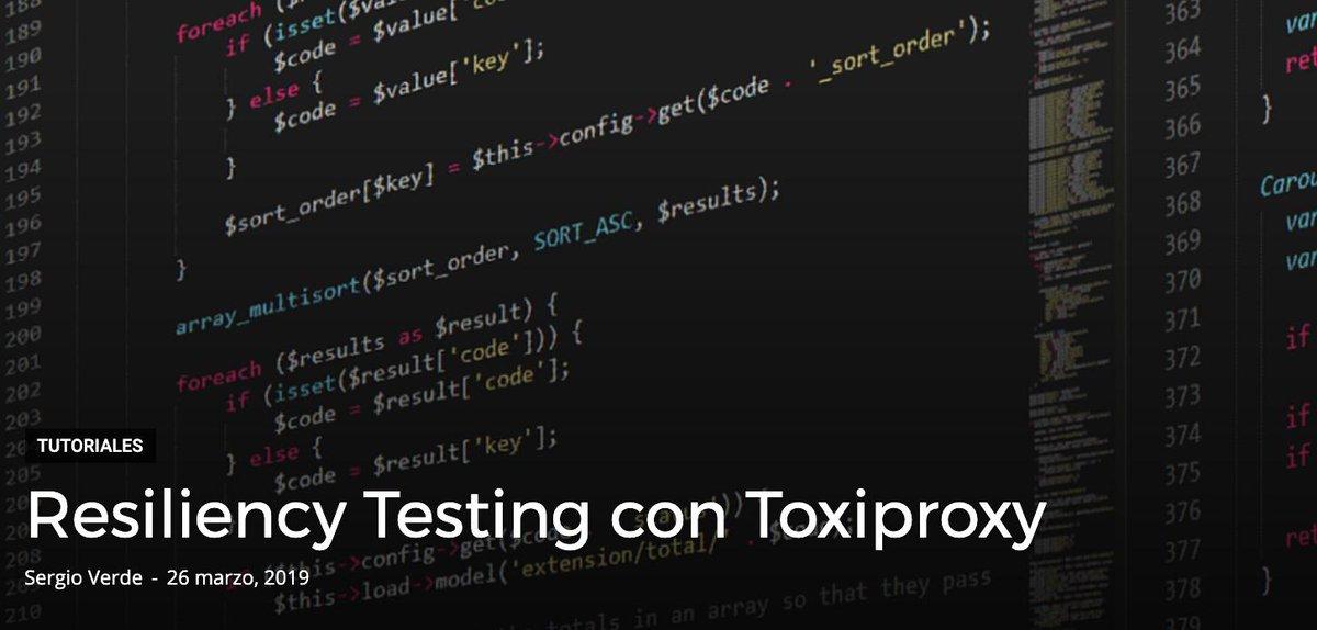 toxiproxy hashtag on Twitter
