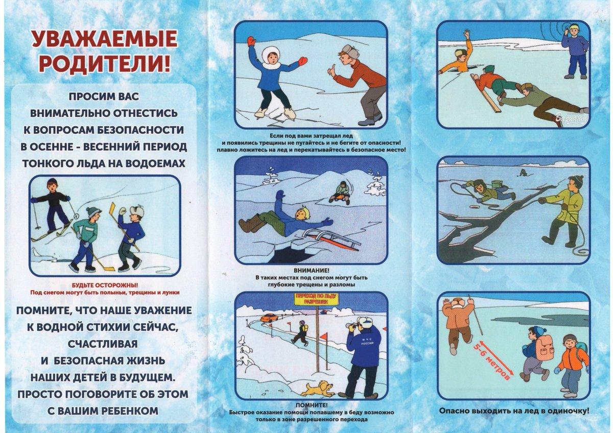Осторожно тонкий лед картинки для дошкольников