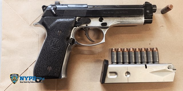 Two days, two guns for the @NYPD77Pct.  Their Field Intelligence officers and Anti-Crime team each took a gun off the streets of Brooklyn on back to back days, helping to keep their community safe from violence.