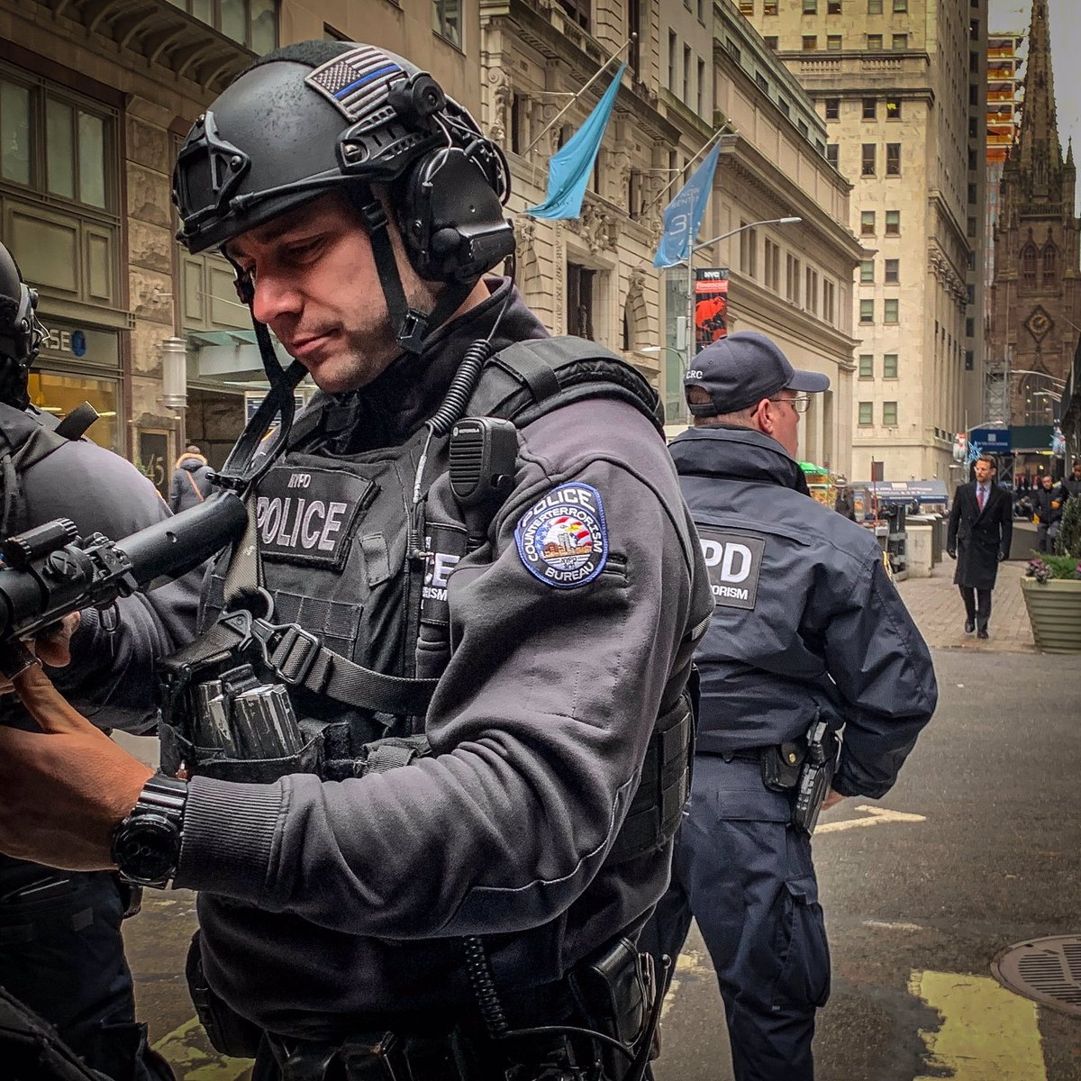 Our @NYPDCT officers are deployed every day to various areas of the five boroughs to ensure extra security at some of NYC's most iconic locations. New Yorkers' safety is our top priority, and these officers help ensure that objective is met.
