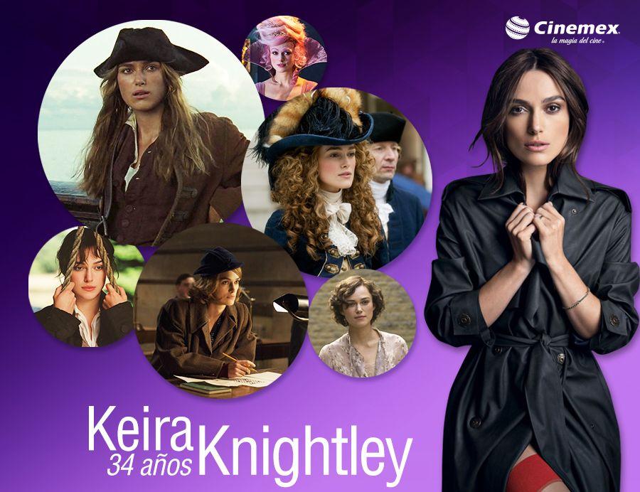Ya sea navegando los 7 mares, o en un reino mágico, esta talentosa actriz ha conquistado a muchos. ¡Feliz Cumpleaños #KeiraKnightley!
