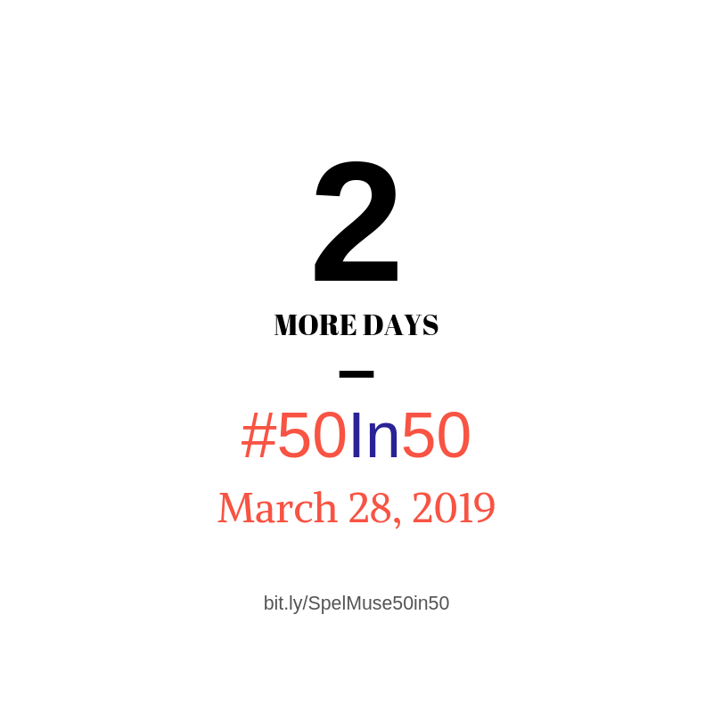 Two more days until our 50 Friends in 50 Days campaign comes to an end! Make this a #givingtuesday and become a friend TODAY at http://bit.ly/SpelMuse50in50! #SpelMuse #InvestSpelMuse #Philanthropy #50in50 #Art