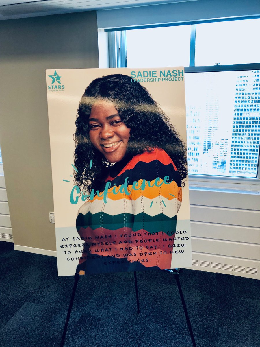 How great to walk into the #femaleleadership #publicprivatepartnerships panel at Deloitte and see a blown up poster of our Nasher and youth board member Maryam #sadienash #StarsCGI https://t.co/k5XMCSzEKy